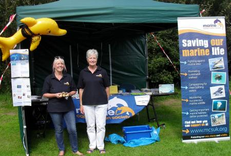 Jane and Kathy at the Wyre Estuary show July 2016.