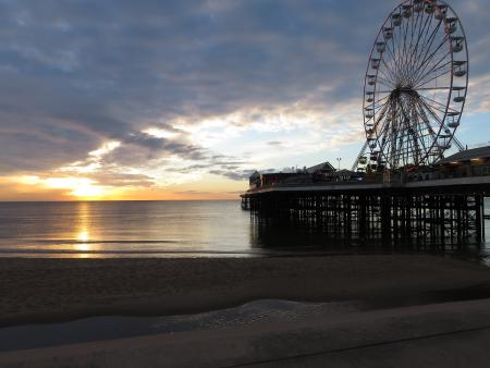 Blackpool pier by Lewis Bambury.