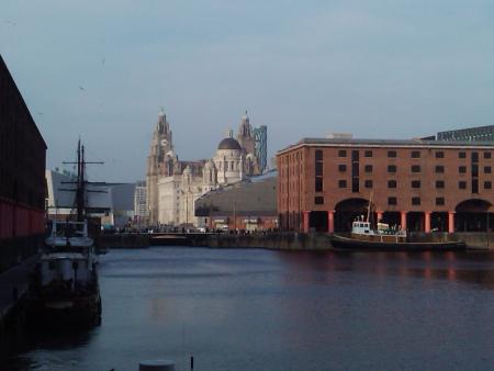 Liverpool's Albert Dock with the Liver Building in the background. Photo B Kaye